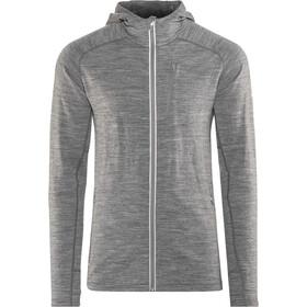 Icebreaker Quantum LS Zip Hood Jacket Herre gritstone hthr